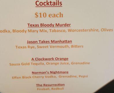 Frightmare Drink specials