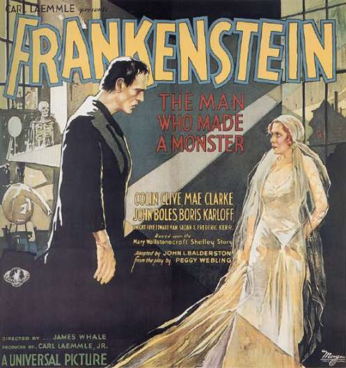Frankenstein 6 sheet
