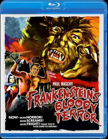 Frankenstein's blood terror bluray