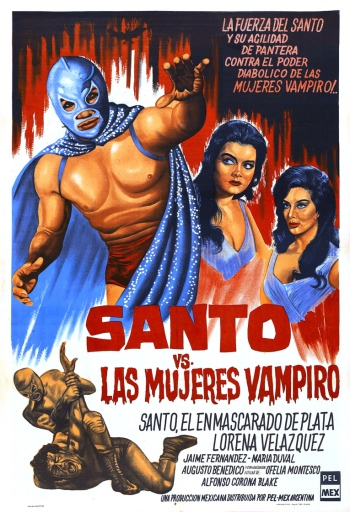 santos vs the vampire women poster