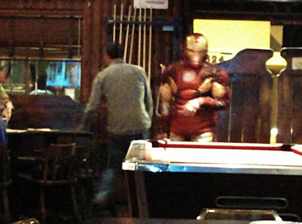 Iron Man Playing Pool